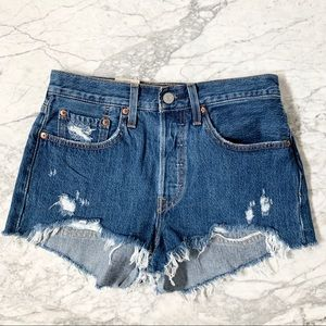 NWT Levi's 501 High Waisted Cut Off Shorts Size 26